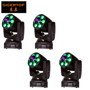 Freeshipping 4XLOT 1x30W White LED+6x8W RGBW 4IN1 Color Hybrid 95W Led Moving Head Gobo Spot Wash Light 2in1 DMX 4 18CH 90V-240V