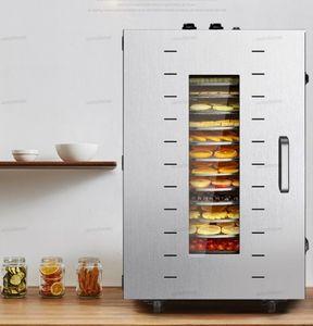16-layer Food Dehydrator Secador Food Dried Fruit máquina comercial Household Pet Secador de alimento elétrico Rotating malha Disk