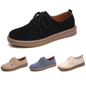 Hot sale women leather shoes color triple black white beige blue fashion trend women casual snerakers size 35-40