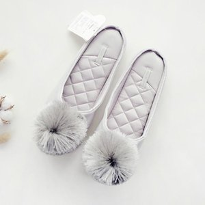 2020 New Autumn Winter Warm Women Home Slippers Soft Non-slip Indoor Shoes Cute House Slip on Flat Slides Ladies Fur Slippers