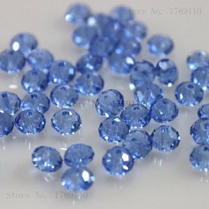 Isywaka 붉은 색 4 * 6mm 50pcs 론 렐 오스트리아 Faceted Crystal Glass Beads Loxt Spacer Round Beads Bbyxyu Bde_luck