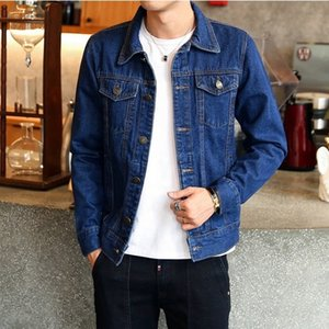 Mens Denim Jacket Plus Size Bomber Men Cowboy baggy jean jaket for men style Chaqueta Hombre American Clothing Fashion Casual