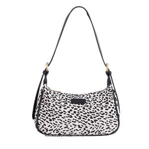 Bolsa Mabula impresión atractiva del leopardo hombro de la lona del monedero del embrague del bolso de las mujeres
