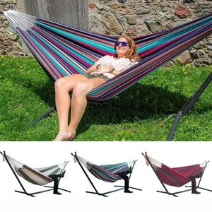 200*150cm Travel Camping Hammock Hanging Garden Bed Lazy Swing Outdoor Camping Chair Indoor Hammock Lazy Chair Without Stand