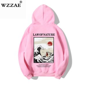 100% Cotton 2019 Purpose Tour Hoodie Sweatshirt Men Women Japanese Embroidery Funny Cat Wave Printed Fleece Hip Hop Hoodies Male X1022