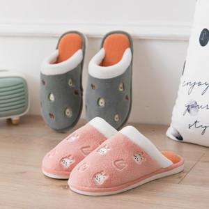 TZLDN Sıcak Sevimli Sonbahar Kış Kadın Terlik Ev Giyim Sandalet Kadın Flats Artı Boyutu Rahat Platform Takozlar Ayakkabı