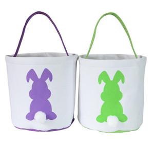 Easter Basket Tote Bag Rabbit Basket Bunny BagsBunny Ears Jute Tote Kids Candies Gift Handbag Organizer Festival Party Decoration WMQ409