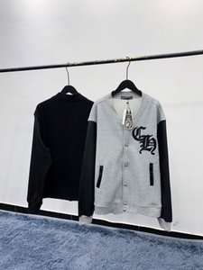 2020SS corações ch cromo luva de couro costura bordados além de veludo uniformes de beisebol dos homens e das mulheres jaquetas M-XL