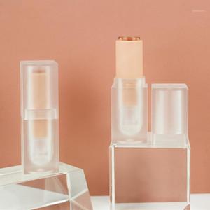 Cristallo acrilico rosa labbra lucido tubo trasparente glassato opaco rosa quadrato rossetto tubo vuoto tubo cosmetico labbro contenitore1