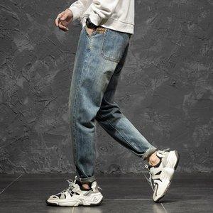 Marca Otoño Invierno Nuevos Jeans Pantalones sueltos Trendy retro distimado NY Y Matching Harem Pants Men's Hombres