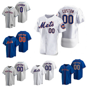 Personalizado 20 Pete Alonso 2020 Mets Jerseys 48 Jacob Grom Darryl Strawberry Keith Hernández Dwight Gooden 31 Piazza Jersey de béisbol
