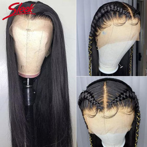 360 Perruque pleine de dentelle Perruque humaine Pré-Plucke pour femmes noires Brésilien Droit Dentelle Front Head Hair Wigs HD 360 Dentelle Perruque frontale