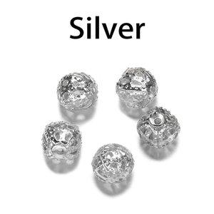 10 200pcs Lot 4 20mm Gold Metal Round Spacer Beads Perle creuse en filigrane pour bricolage Bracelet Collier Bijoux Fournitures H WMTXTS