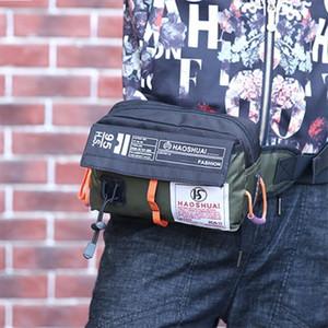Wellvo Paquetes de cintura multifuncionales de Wellvo Mujeres Hombres portátiles Nylon Flap Ciudad Bolsas de pecho Teléfono Cartera Impermeable Viaje Bolsa XA123WC