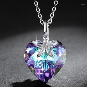 Large Heart Shaped Crystal Necklace1