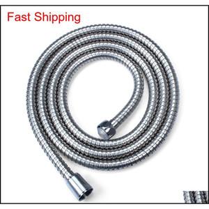 2m Flexible Stainless Steel Chrome Standard Hose Shower Head Bathroom Hose Water Hoses Pipe Ne qylcmv bdenet