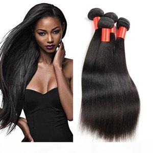 3pcs brasileño recto lot liberan el envío brasileño de la Virgen del pelo de lotes Rosa cabello Compañía armadura del pelo humano