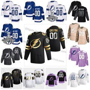 Personalizar Hombres Mujeres Jóvenes de oro de edición limitada Tampa Bay Lightning Jersey Steven Stamkos Johnson Point Kucherov Hedman McDonagh S-6XL