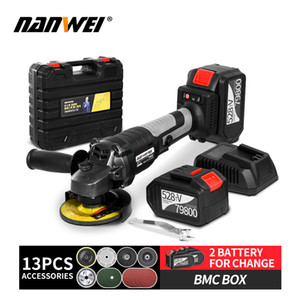Grinder elettrico Brushless Angle Grinder Lithuim Battery Bithless Angle Grinder T200602