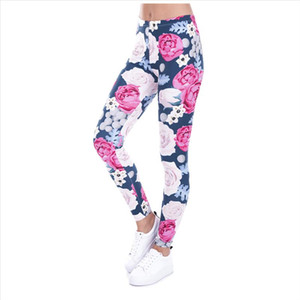 New Women Leggings 3D Print PARADISE FLOWERS Causal Jeggings Sexy Leggins Tayt Fitness Legging Calzas Mujer Soft Legins Girls
