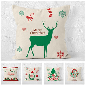 hot Christmas pillow case washable Elk car sofa cushion cover pillow cover Christmas decorations Home Textiles 6 style T2I51676