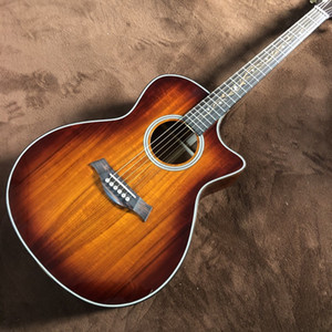 Free Shipping Acoustic and solid wood guitar chaylor k24ce 41 inch wood color, k24 koa cut electric guitar player