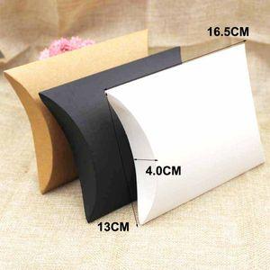 коробка подарка большой подушки коробки zerongE ювелирных изделия 50pcs черный / коричневый / белого цвета подарок коробок дисплея для подарка / конфеты благосклонности / продуктов