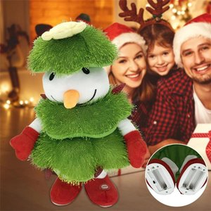 Electric Santa Claus Plush Toy NEW Christmas Tree Snowman Doll Gift for Holiday Decor