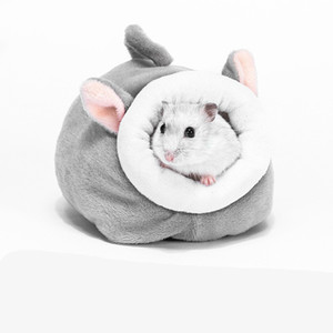 Little Pet Nests Squirrel Hamster Winter Warm House Multi Color Thickening Plush Cave Bed Cute 12*10*9cm Fashion Small Animal New 4 5zg G2