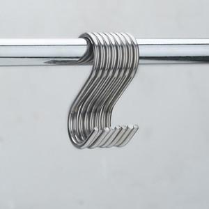 10pcs set Stainless Steel Round S Shaped Hooks House Kitchen Pot Pan Hanger Clothes Storage Rack Tool Kitchen Storage Tools #LR2