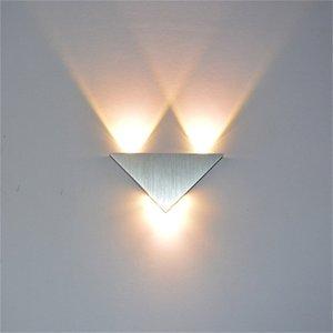 Modern Lâmpada LED Wall 3W alumínio Triangle Corpo Wall Light Para Bedroom Home Lighting Luminaire Banho luminária arandela Sy0313