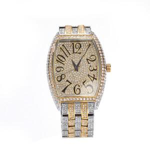 Hip Hop Punk Brilliant Quartz Number Watch bracelet Office Men Wristwatch Electronic Watches Retro Fan Gift
