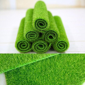 2 tailles Paysage créatif Micro artificiel pelouse Grassland Gazons Fausse herbe verte jardin d'ornement Modèle de construction Décor