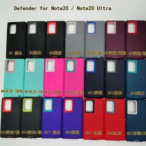 Note20 Ultra Defneder box CASE for APPLE iphone 11 pro For Samsung note10 s10 S20 PLUS ULTRA TPU PC Covers Cases