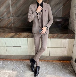 20 New autumn men's business professional formal suit customized three-piece suit
