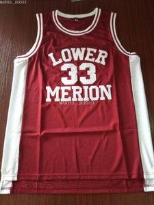 cheap custom Retro No. 33 Black Mamba Merion High School Jersey Embroidered Basketball jersey XS-5XL NCAA