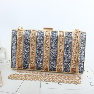 Glitter Sparkling Full Sequins Evening Bag Wedding Bride Shoulder Bags Party Day Clutches Purses Chain Handbags