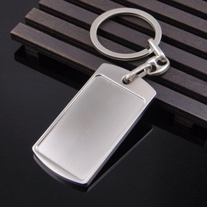 Tag Metal Keychain Creative Bag Charm Pendant Men Gifts Keyring Support Custom LOGO Simple Keychains 2020new