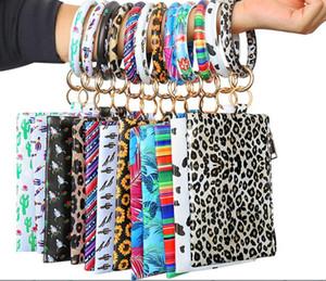 Hot seller fashion PU Keychain Bracelet Wallet Woman Handbag Leather Tassel Pendant Handbag Leopard Bracelet Ladies Bag by dhl