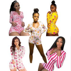 Усилительные сексуальные Onesie Pajamas Взрослые Женщины Плюс Размер Кнопка Кнопка Боди Летотард Короткие Комбинезоны Комбинезон Комбинезон Prampsuit Rompers onsie Party