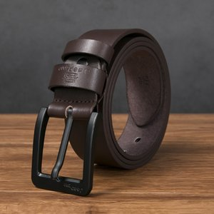 Men's PU Leather Black Alloy Pin Buckle Jeans Belt Fashion Business Men's Youth Luxury Retro Classic Belts casual luxury Designer