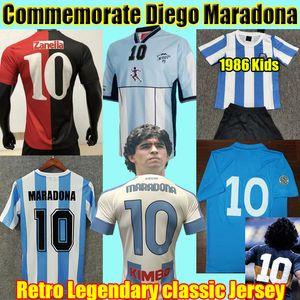 Diego Maradona Retro Soccer Jerseys 1978 1986 Argentina 1987 1988 Napoli 1981 Boca juniors Maglia da calcio classica vintage Kids Kit Uniforme