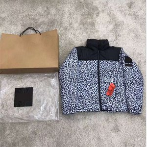 Down jacket casual comfortable top loose men and women thickened lint jacket fashion leopard print clothes Asain M-2XL