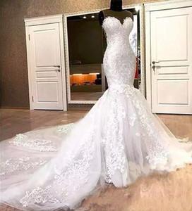 2021 gorgeous plus size mermaid wedding dresses bridal gowns with lace appliques bohemain Wedding Dresses vestidos de novia