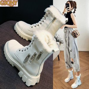 Women's Rubber Boots Luxury Designer Winter Footwear Round Toe Female Shoes Boots-Women Rain Rock Fashion 2020 Lolita1