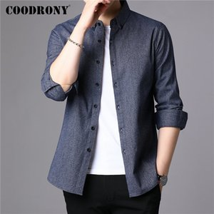 COODRONY Men Shirt Pure Cotton Long Sleeve Shirt Men 2019 New Arrival Autum Winter Business Casual Shirts Camisa Masculina 96077 J1216