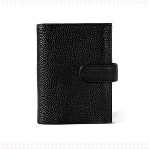 DIY Black Red Genuine Leather Rings Notebook A7 Size Binder Agenda Organizer Diary Journal Sketchbook Planner Big Pocket1