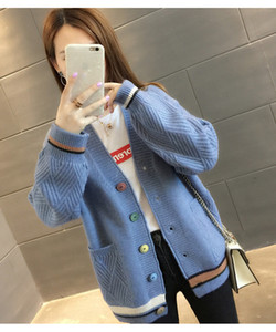 2021 Spring and Autumn dress, new Korean chic style lazi short knit cardigan coat student women