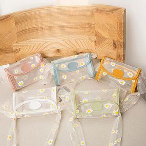 New Fashion Summer Chrysanthemum jelly shoulder bag Messenger Bag Handbangs Clear