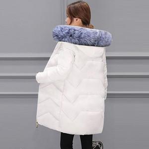 Women's Down & Parkas Big Fur Winter Warm Jacket Female 2021 Fashion Coat Women False Collar Cotton Parka Large Size 7XL